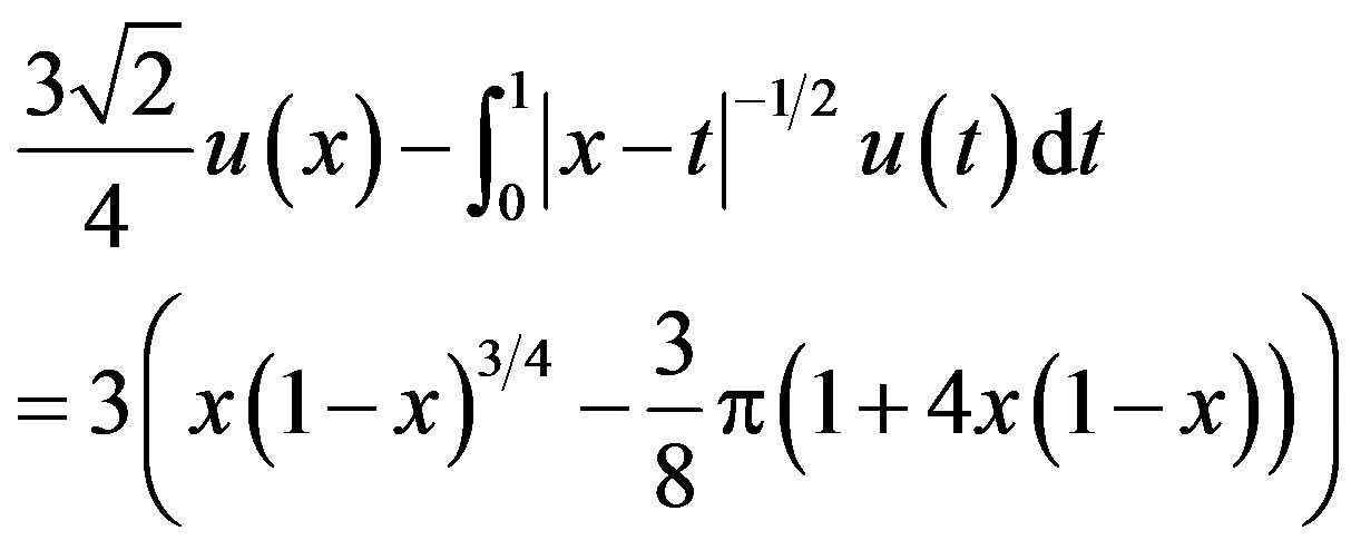 Integral Equation Example Singular Integral Equation