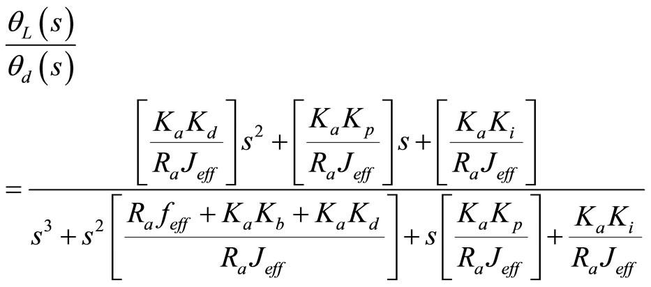 servo motor transfer function matlab