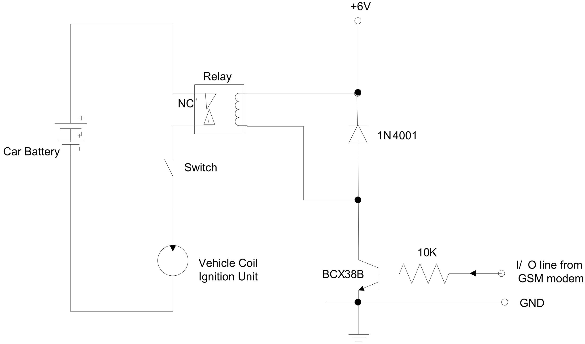 Design And Implementation Of Remotely Controlled Vehicle Anti Theft Two Hijack Alarms By 4001 Figure 4 Demobilizer Interfacing Circuit