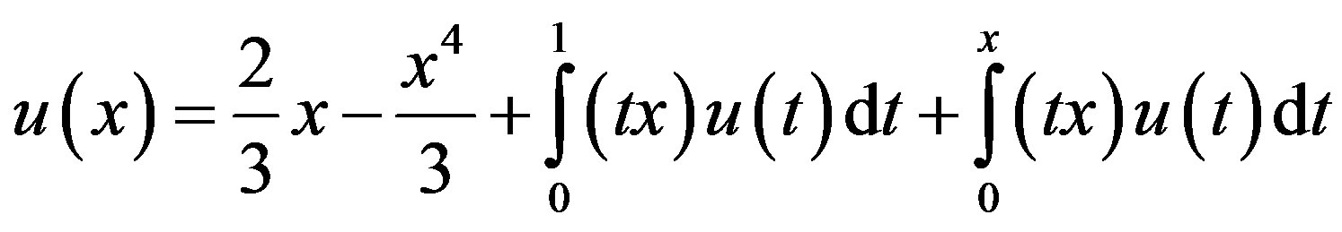 Equation Integral Integral Equation of The