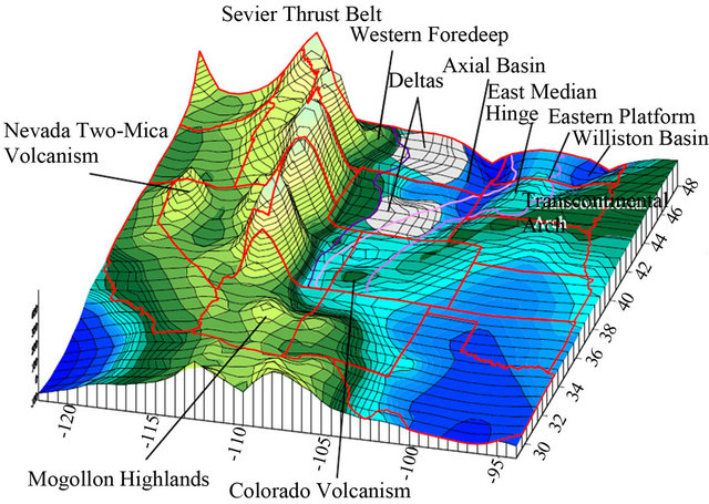 Map Of The Facies Belts Of The Western Interior Seaway.