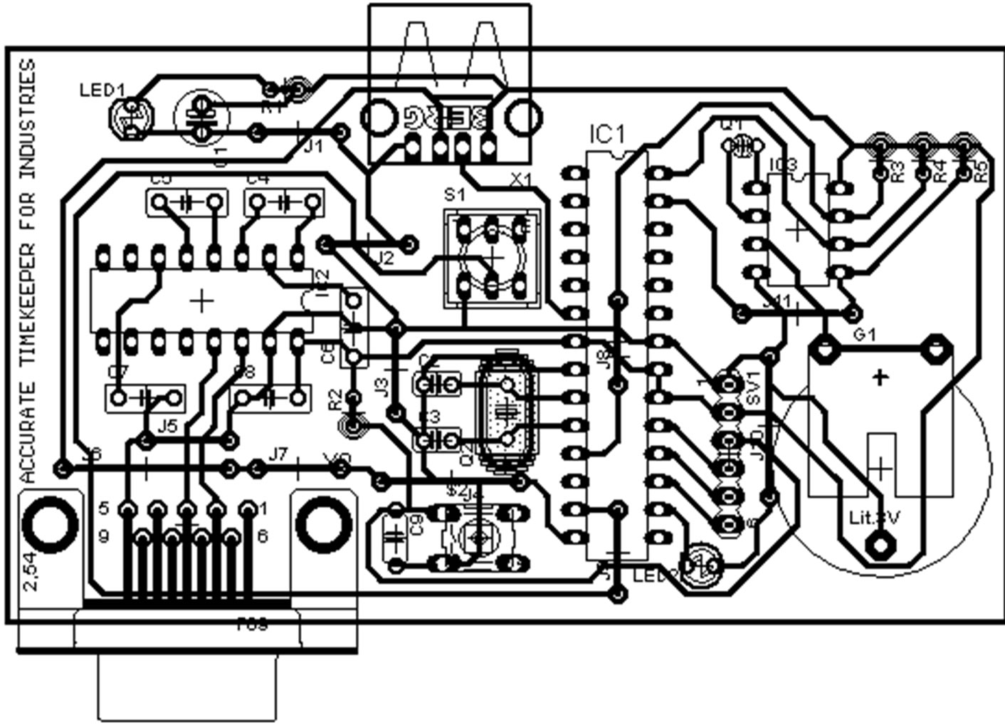 cyclic relay wiring diagram wiring librarysingle side pcb layout of the control circuit