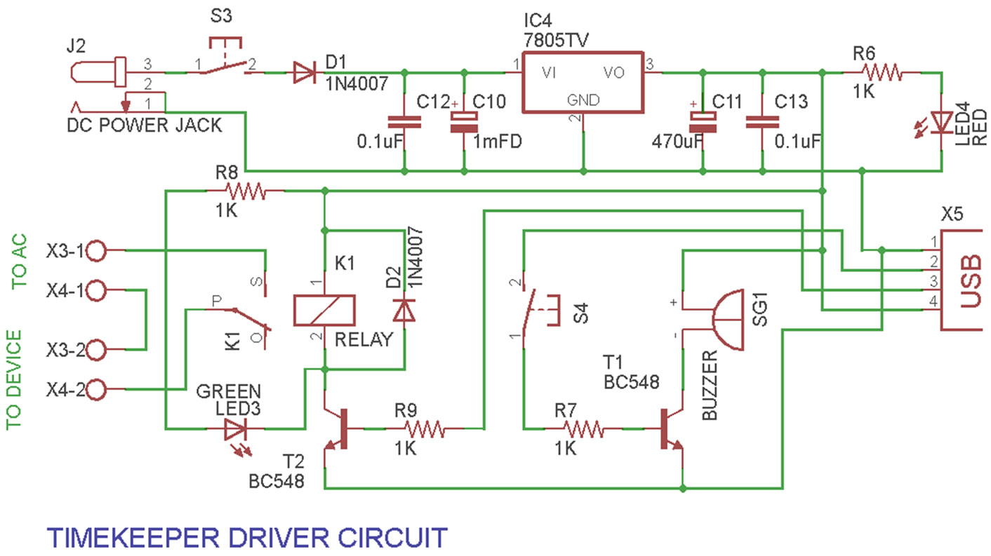 a versatile industrial timer and real time keeper circuit diagram of the driver circuit
