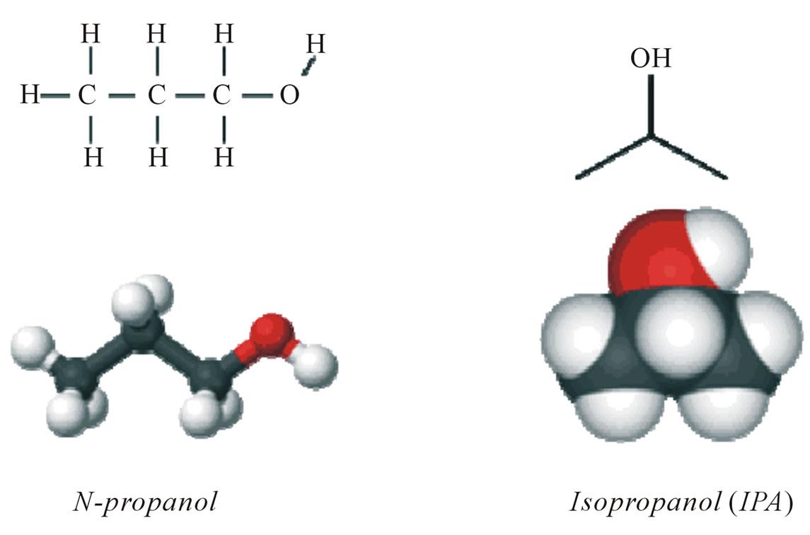 N Propanol Chemical formula of n-propanol