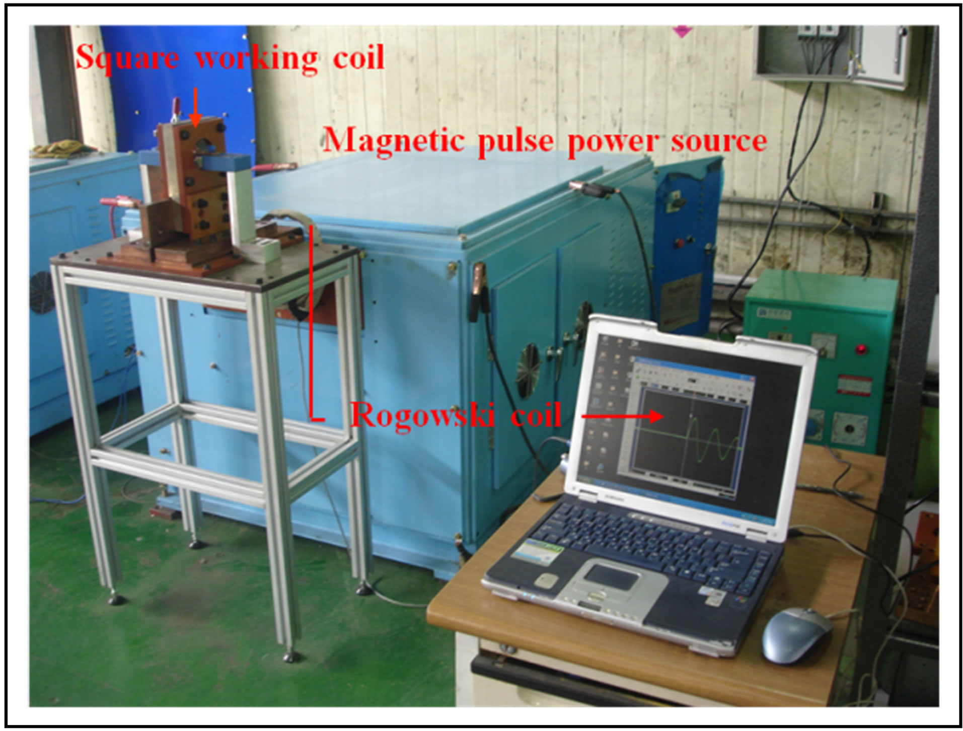 Distribution Of Electromagnetic Force Square Working Coil For Capacitive Discharge Welder Wiring Diagram A Schematic Magnetic Pulse Welding