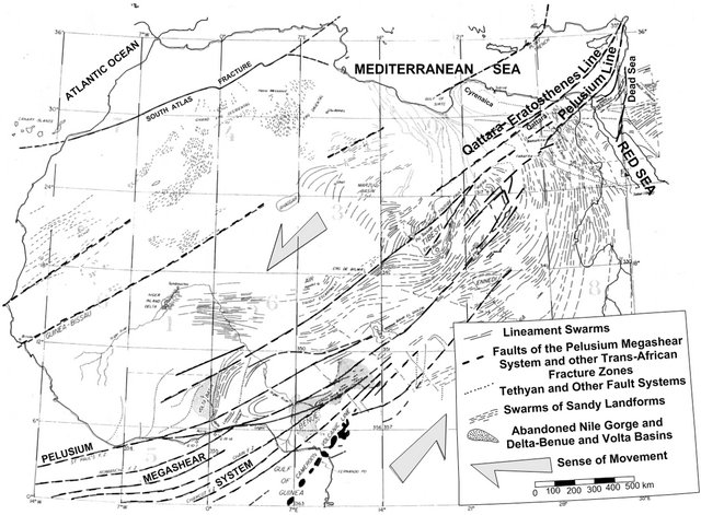 Truthfulness Of The Existence Of The Pelusium Megashear Fault System