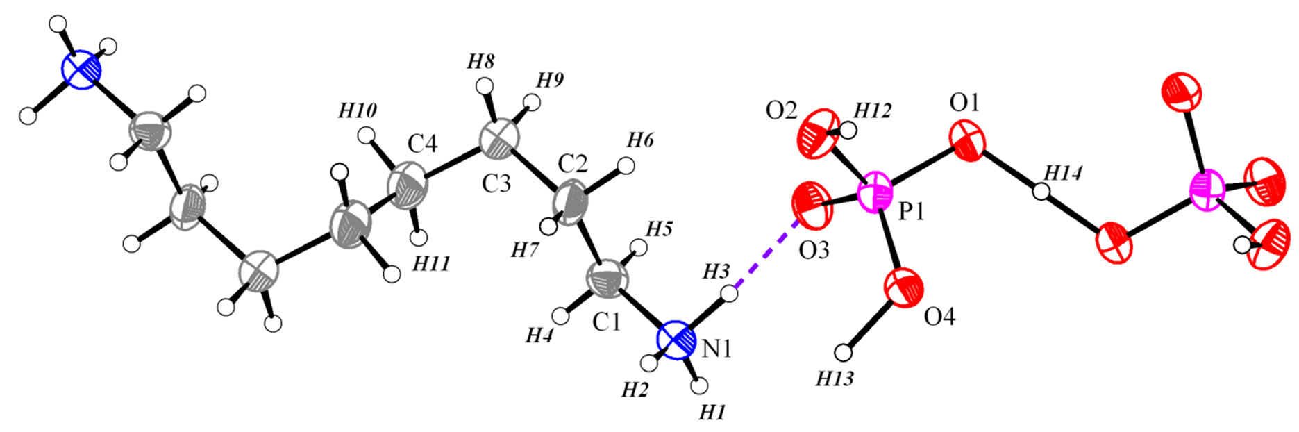 Synthesis crystal structure and characterization of a new octane asymmetric unit of h3n ch28 nh3h2po42 with atom labels and 40 probability displacement ellipsoids for non h atoms pooptronica Image collections
