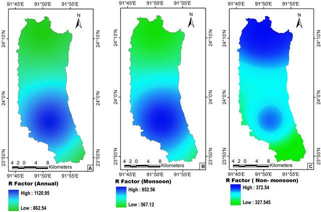 Assessment of soil loss of the dhalai river basin tripura for Soil k factor