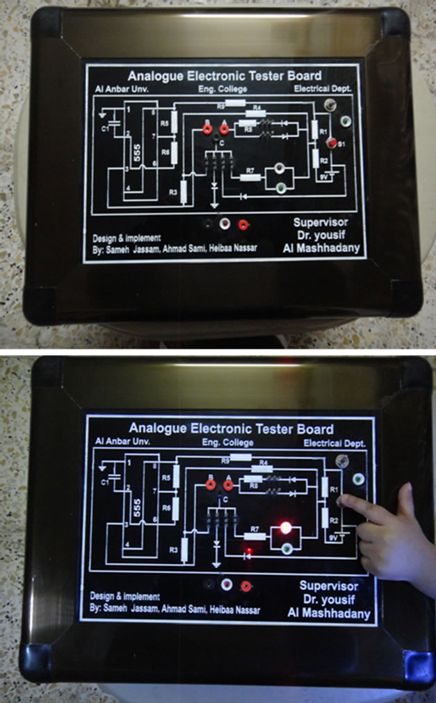 design and implementation of an analogue tester boardthe practical model of electronic tester board