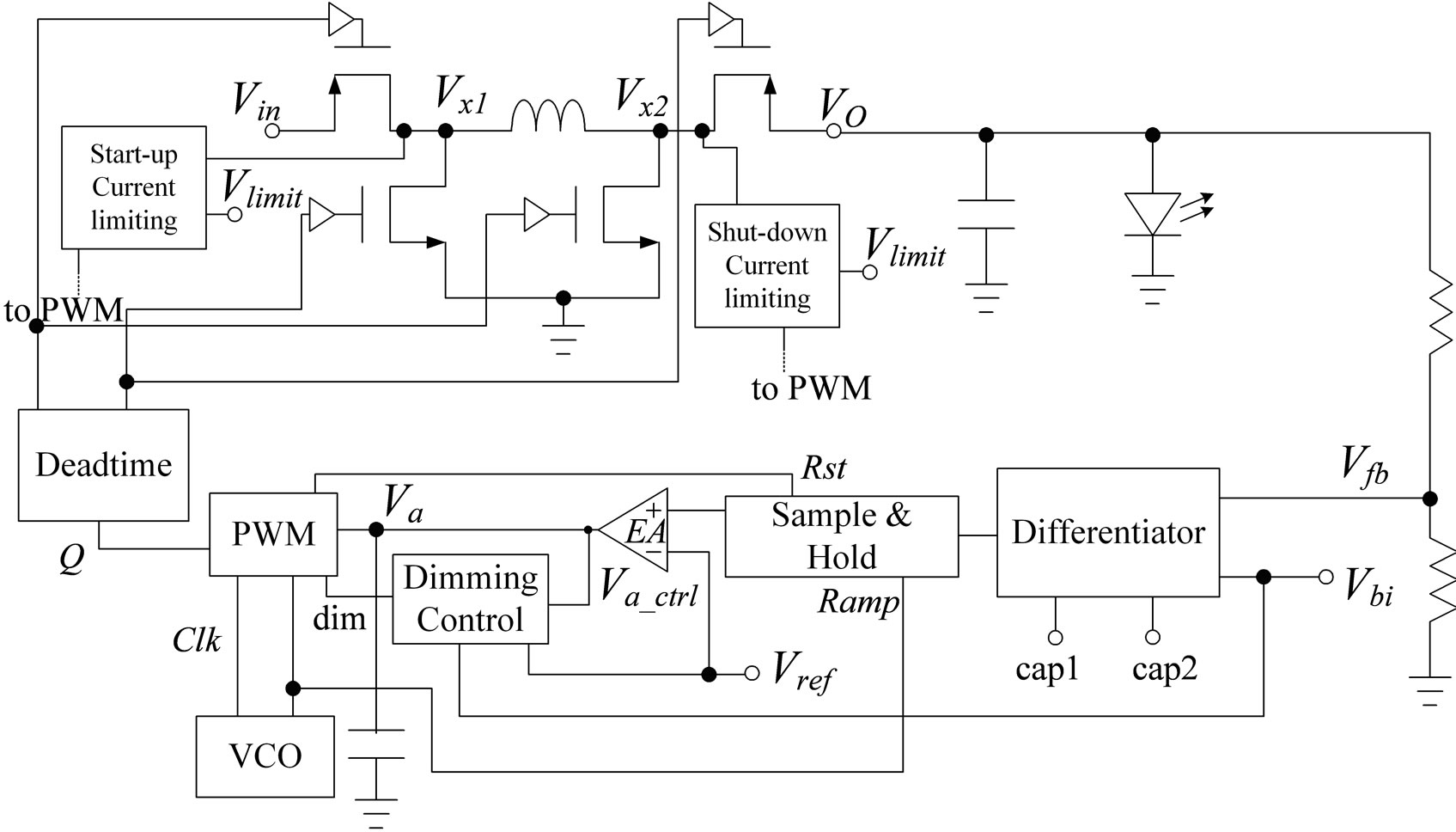 Design And Verification Of A High Performance Led Driver With An Discrete Pwm Generator Circuit The System Diagram Proposed Buck Boost
