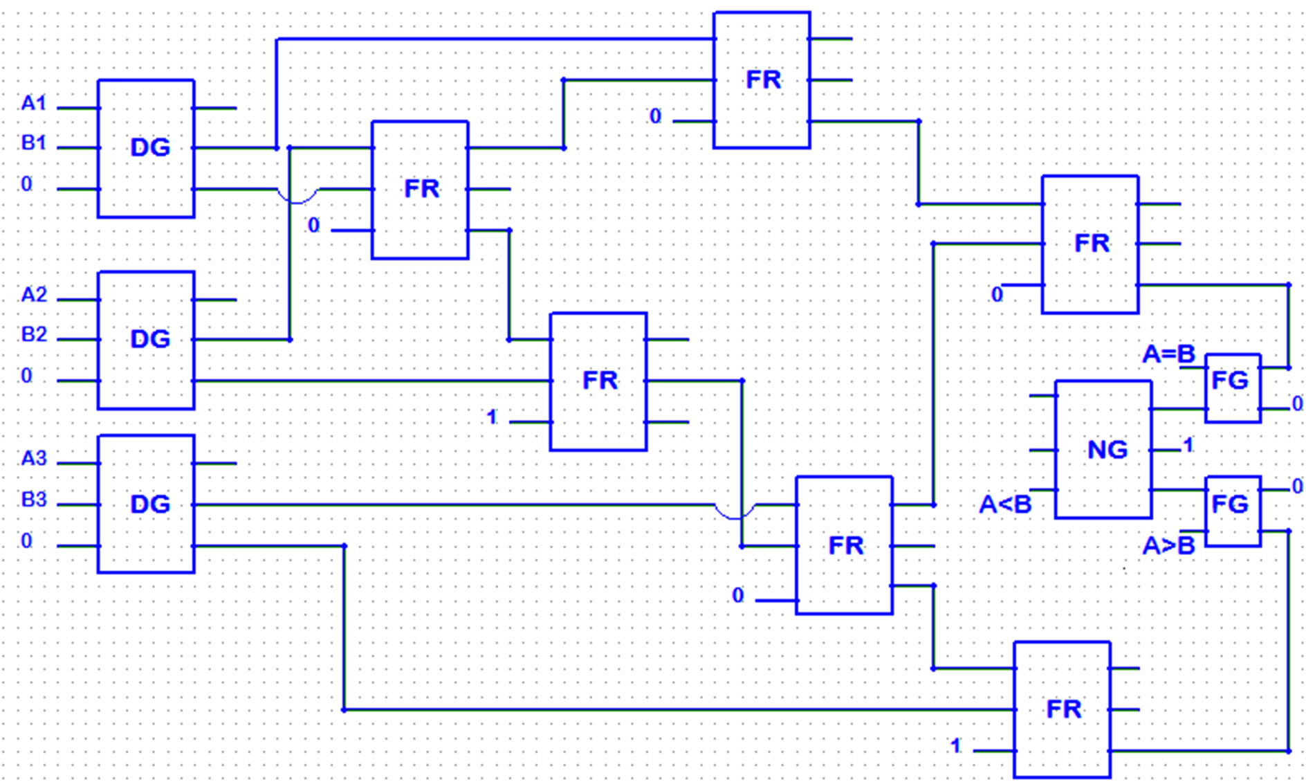 Logic Diagram For 4 Bit Comparator Wiring Library Three Using Dg Gate
