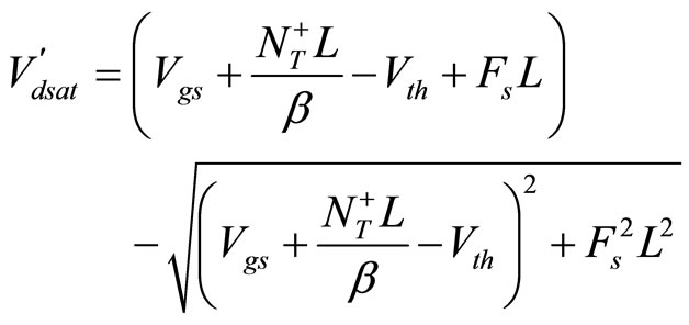 2 D Theoretical Model For Current Voltage Characteristics