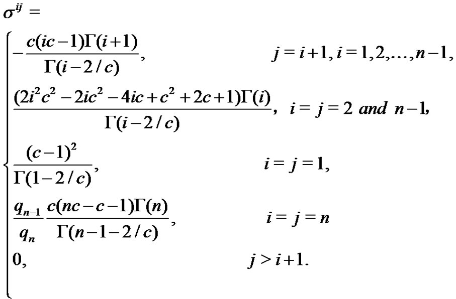 how to find variance covariance matrix of gamma function