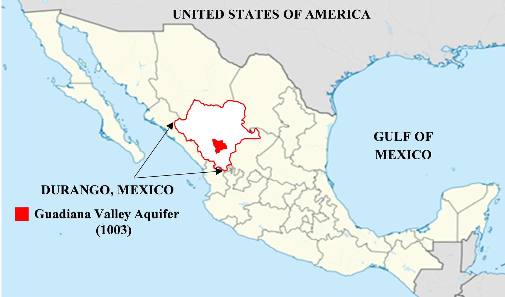 Figure 1 Study Area Location Of Guadiana Valley Aquifer In Durango Mexico