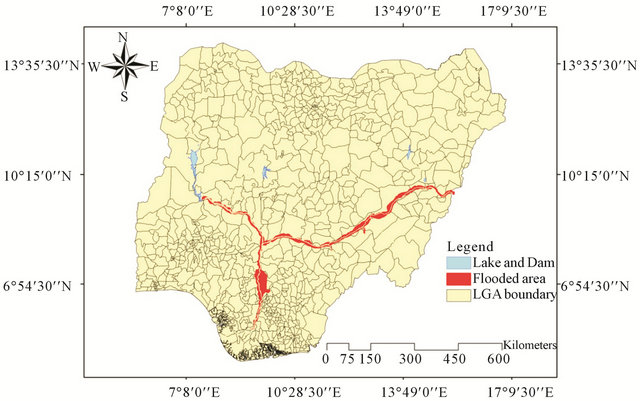 Benue River Africa Map.Geospatial Techniques For The Assessment And Analysis Of Flood Risk