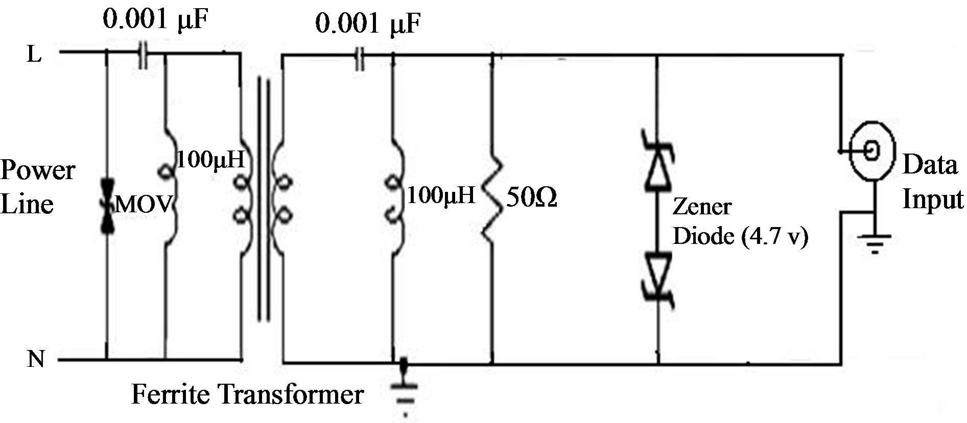 Design Of Bidirectional Coupling Circuit For Broadband Power Line Zener Low Voltage Coupler