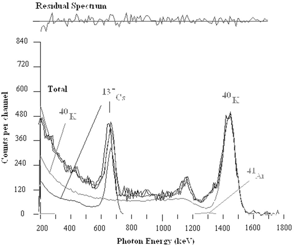 direct determination of radionuclides in the body optimisation of measurements parameters and