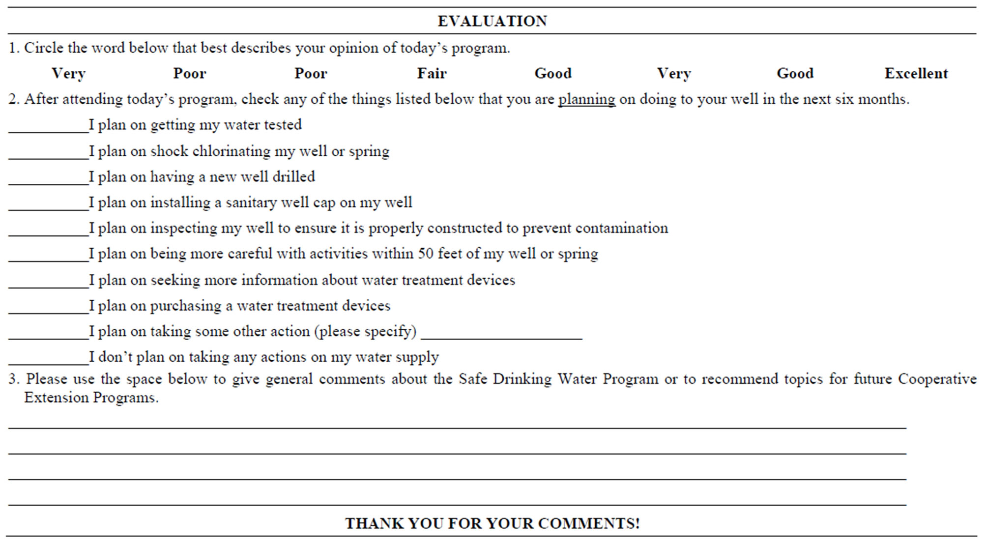 Drinking Water Quality Clinics And Outreach In Delaware Focusing 07b5be66  F7c6 4865 Ac67 301b90368ae0 4 6702088 41521htm. Conference Evaluation Form  In Word