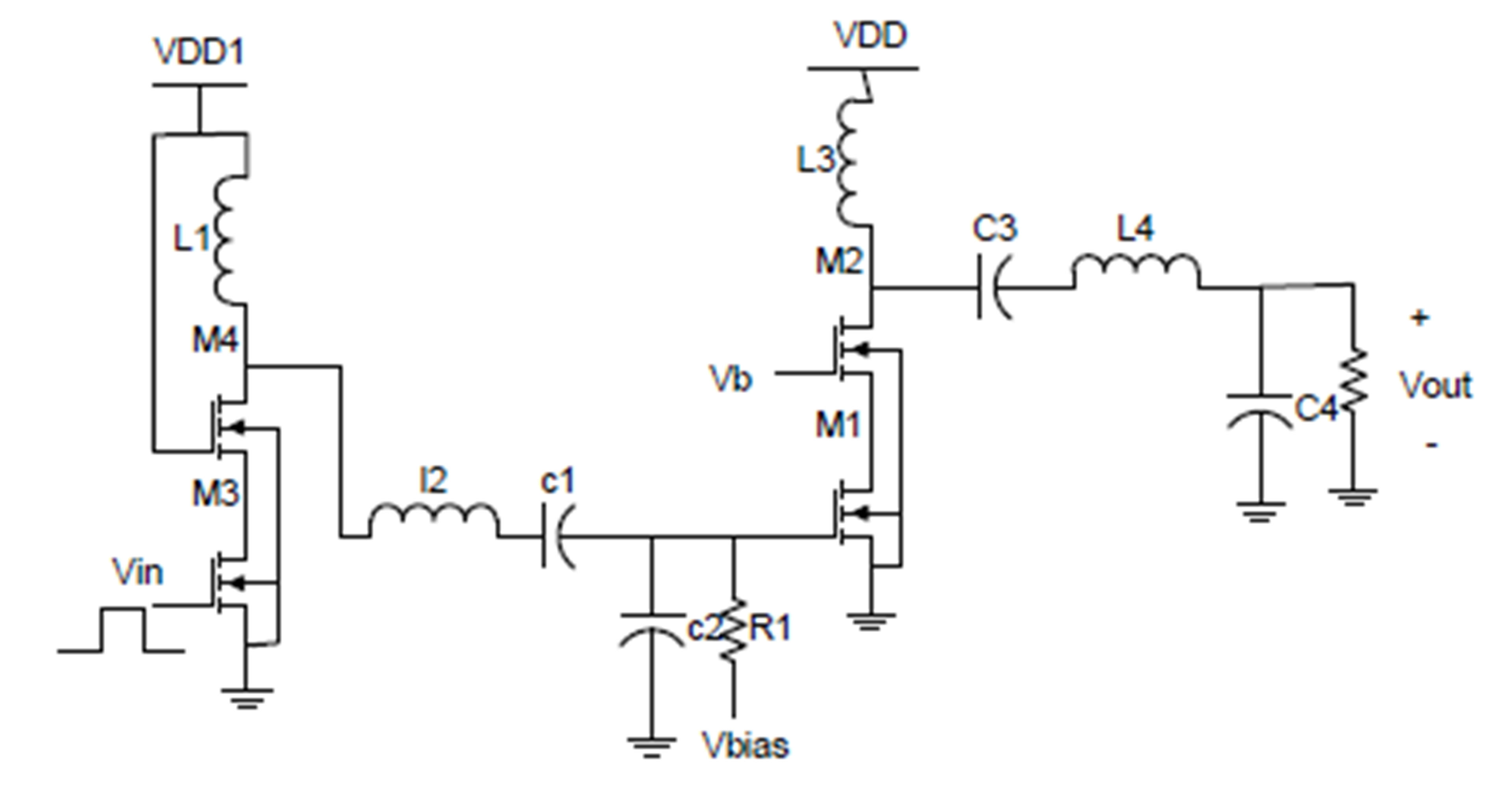 Class-E power amplifier schematic.