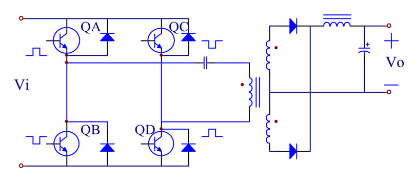 The Implementation Of A High Efficiency Full Bridge Converter