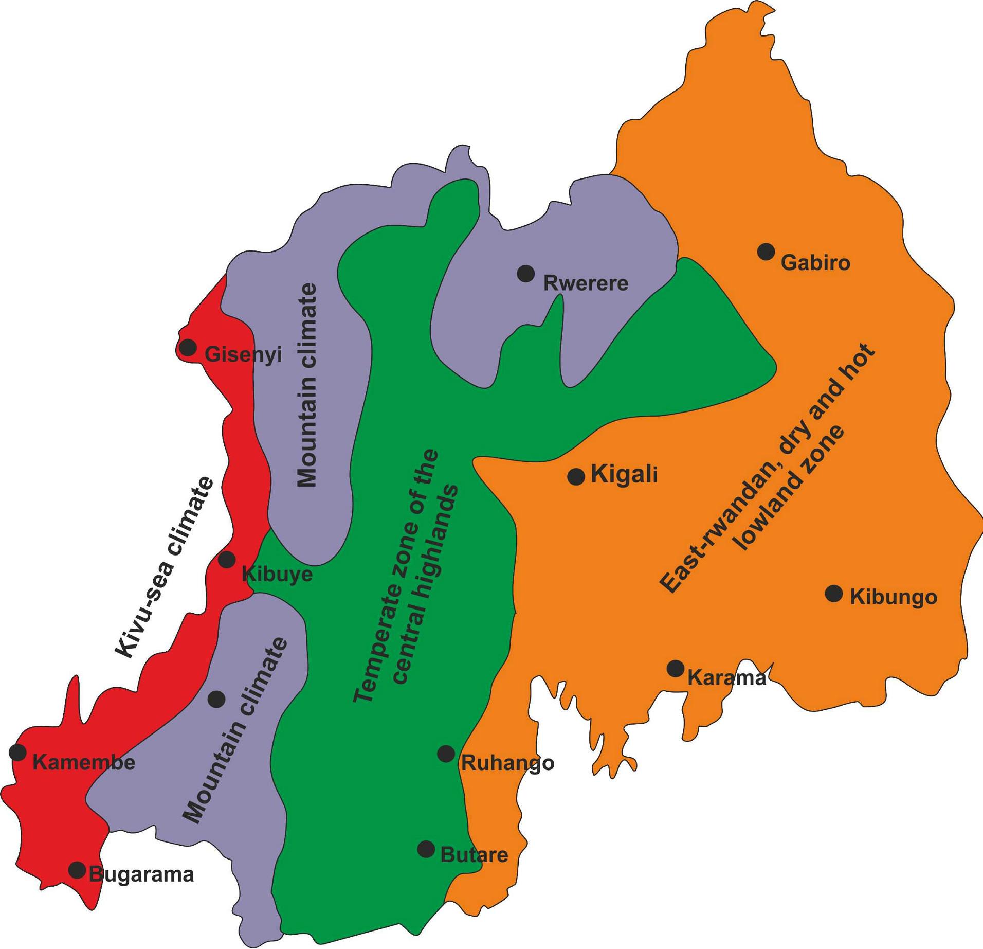 Does the global warming modify the local Rwandan climate?