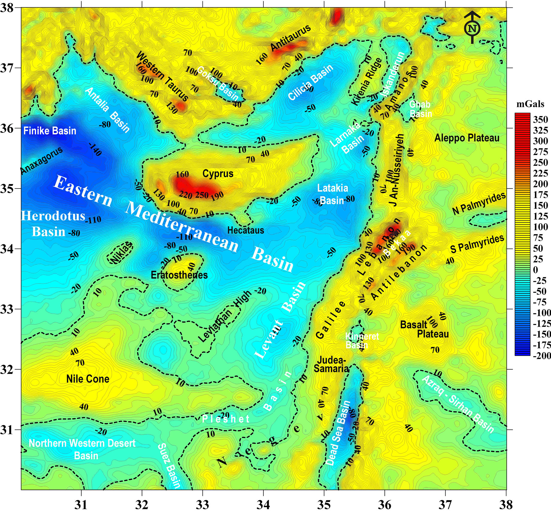 TectonicGeophysical Mapping of Israel and the Eastern