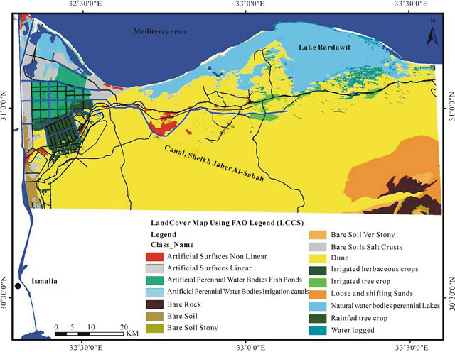 Land Cover Map Delineation For Agriculture Development Case - Map of egypt before the sands