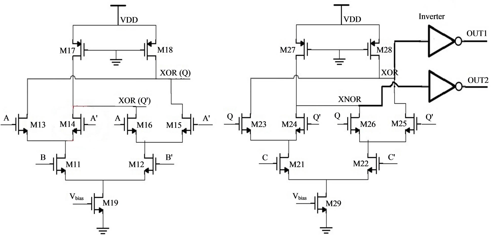 Current Mode Logic Testing Of Xor Xnor Circuit A Case Study Transistor Source