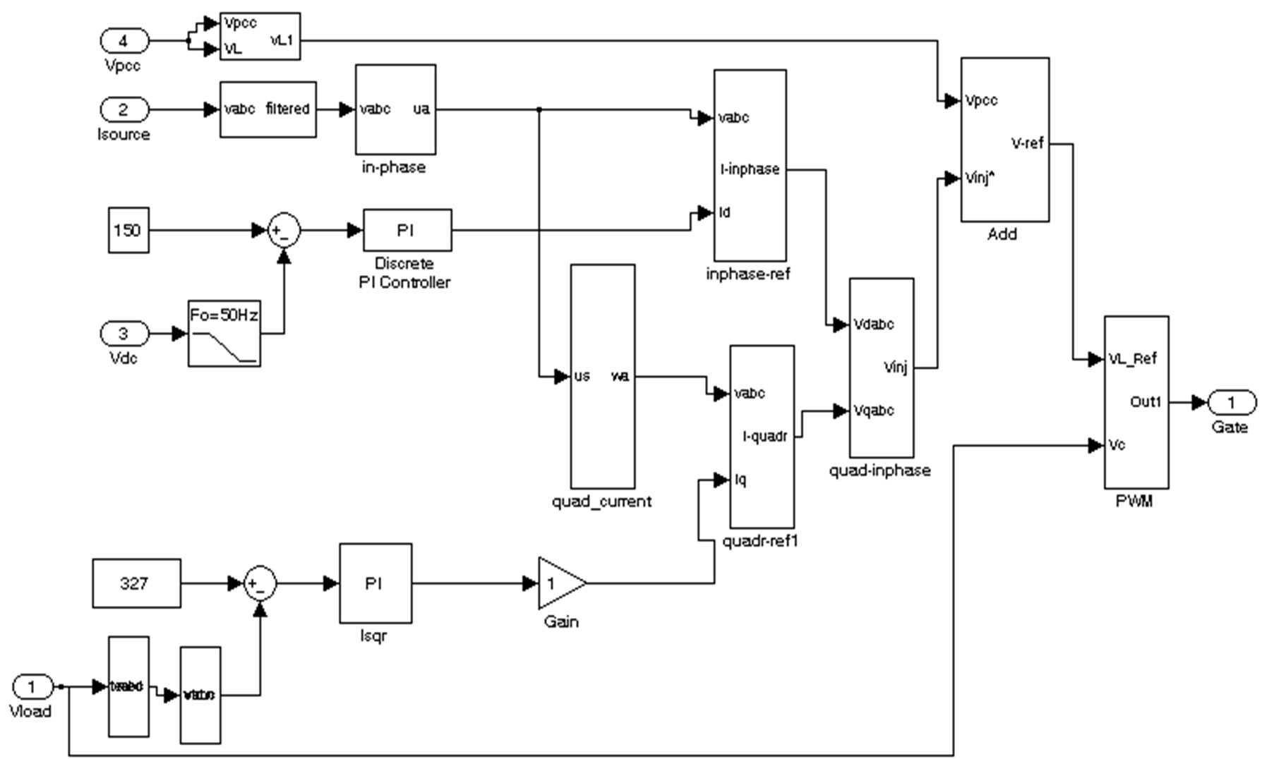 New Control Algorithm For Capacitor Supported Dynamic Voltage Restorer P Controller Circuit Diagram A