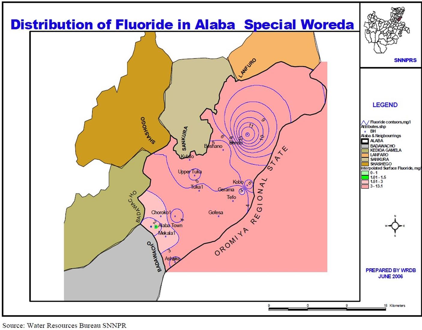 Fluoride Level In Halaba In Mg Litre