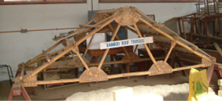 Bamboo Trusses With Low Cost And High Ductility Joints