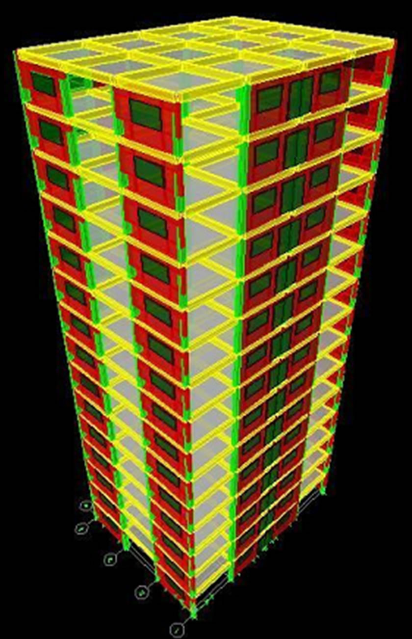 Wall Design Etabs : Comparison of wind induced displacement characteristics