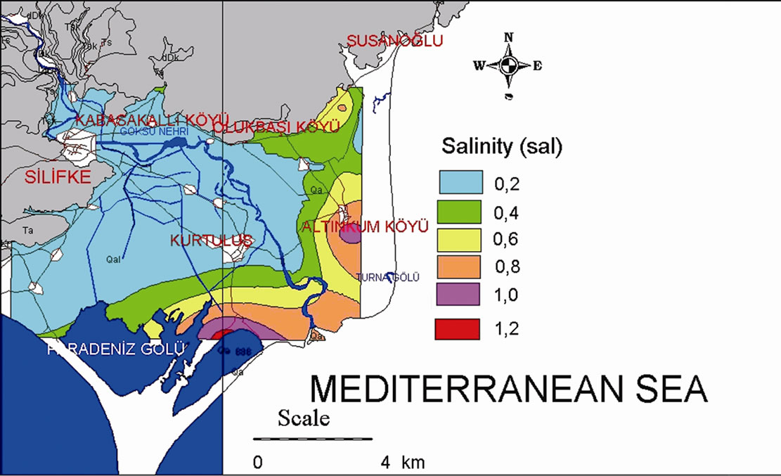 The Influence Of Seawater On A Coastal Aquifer In An International - Saltwater intrusion map us