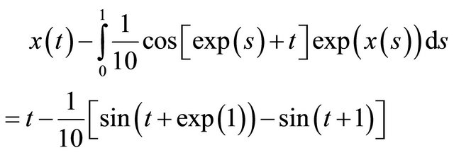 Integral Equation Example Fredholm Integral Equation