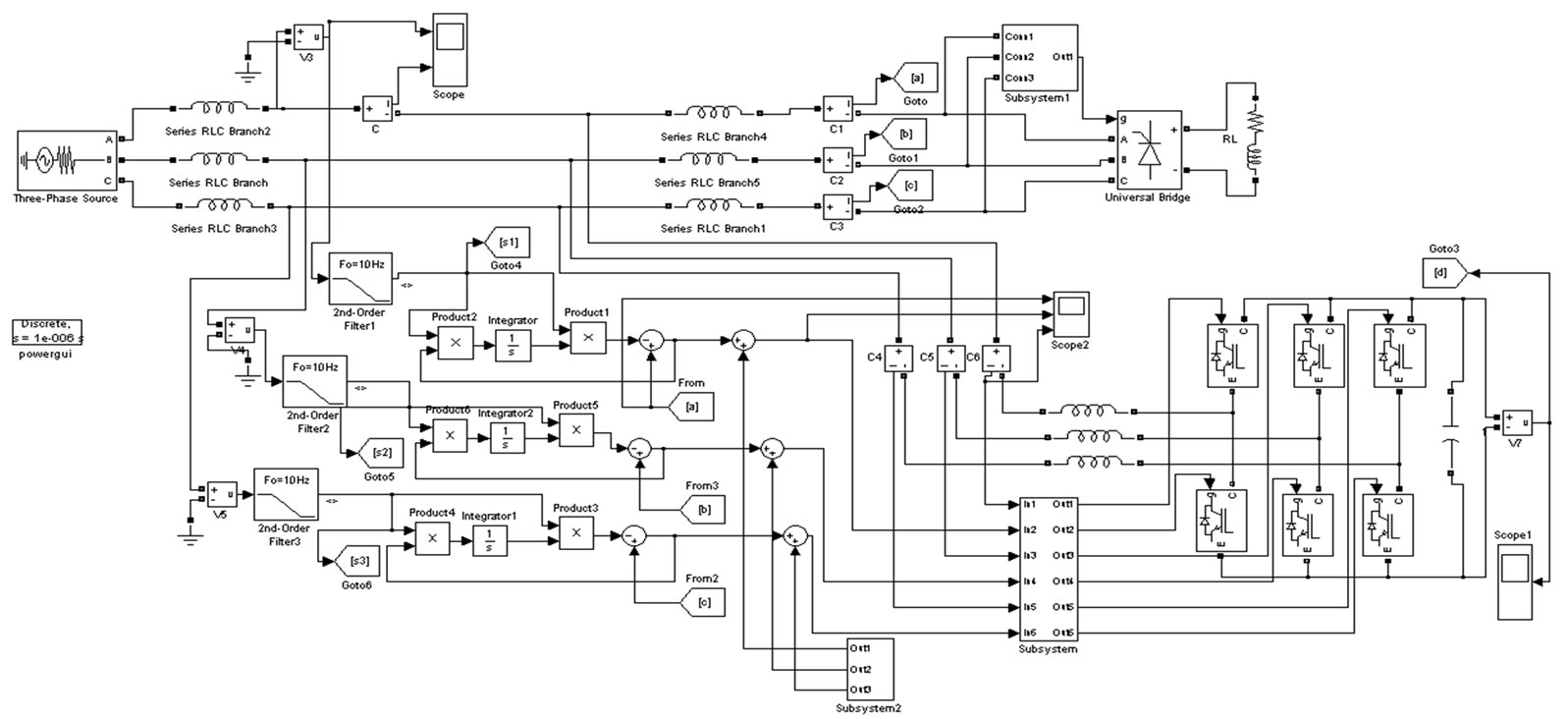 Active Power Filter Based On Adaptive Detecting Approach Of Harmonic Notch Circuit Diagram Simulation Model