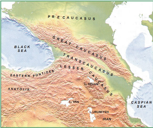Tethys Subduction History in Caucasus Region