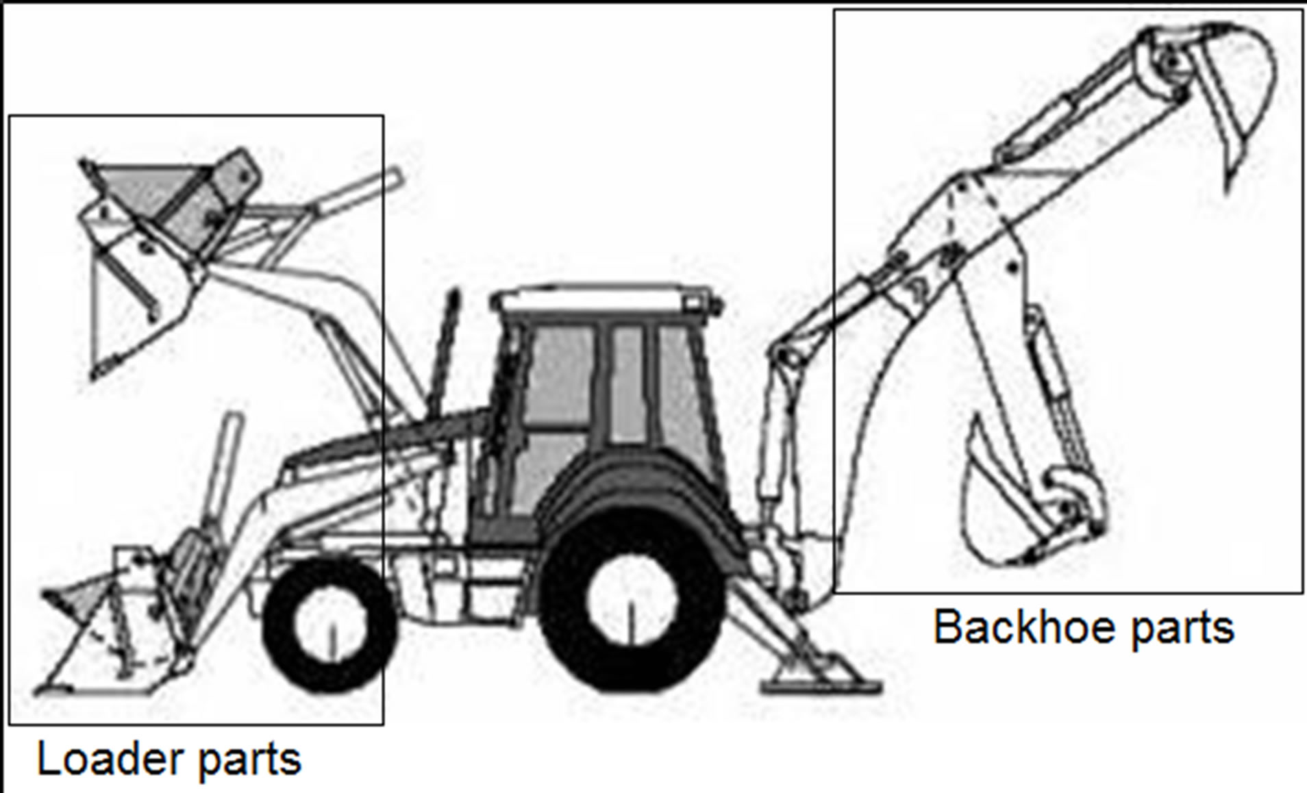 Backhoe loader machine