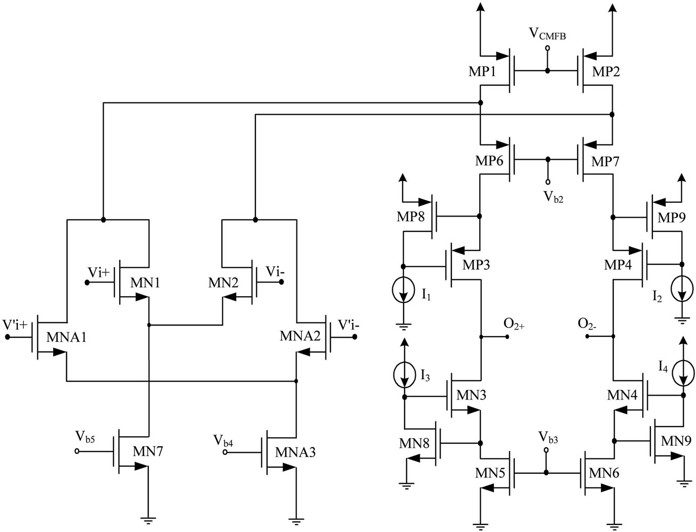A Modified Approach For Cmos Auto Zeroed Offset Stabilized Opamp Integratedcircuit Differential Amplifier Circuit Diagram Schematic Of Gm2 Stage