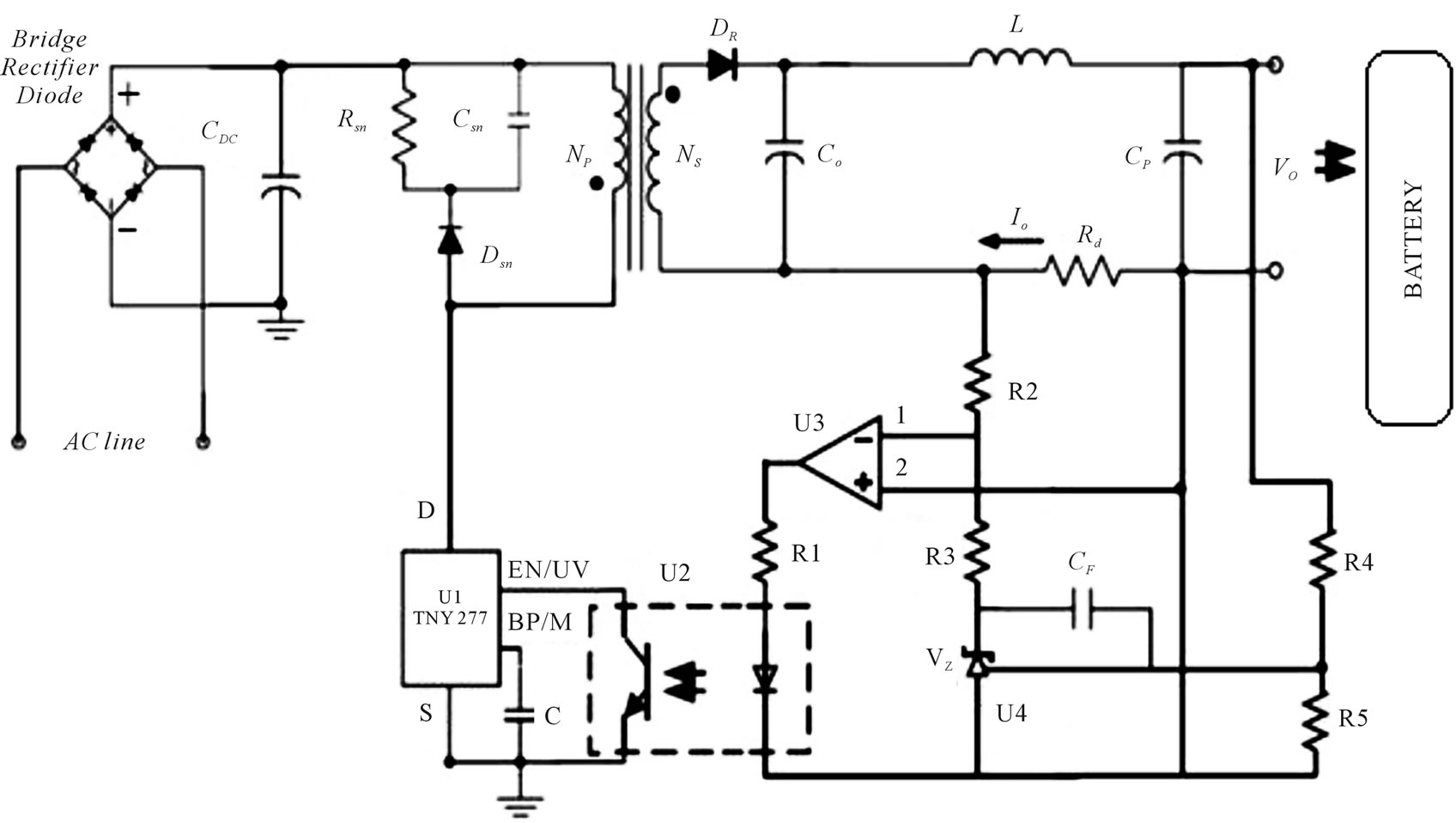 Power Efficient Battery Charger By Using Constant Current Fly Back Transformer Driver Wiring Diagram Schematic Rise The Final Scheme Of Proposed Converter