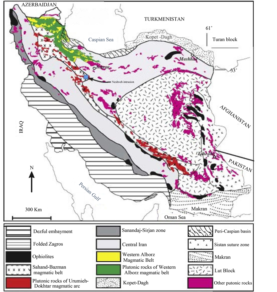 schematic geological map of iran showing the distribution of the sedimentary and structural units and plutonic igneous rocks after 16