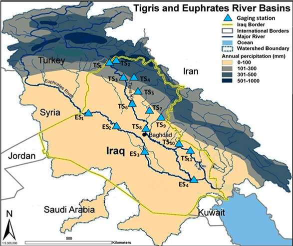 Expected Future Of Water Resources Within TigrisEuphrates Rivers - Tigris river map world atlas