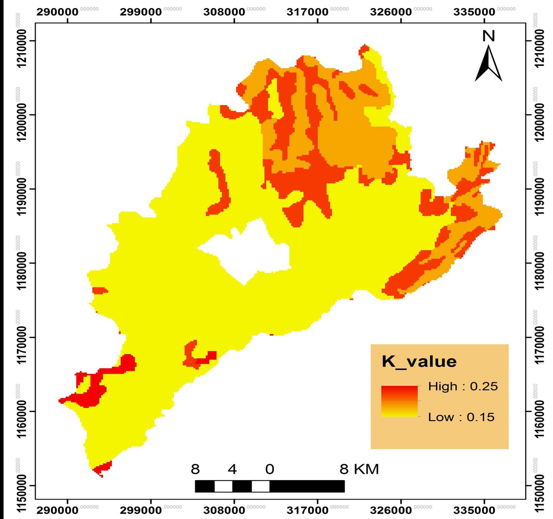 Gis based soil loss estimation using rusle model the case for Soil k factor