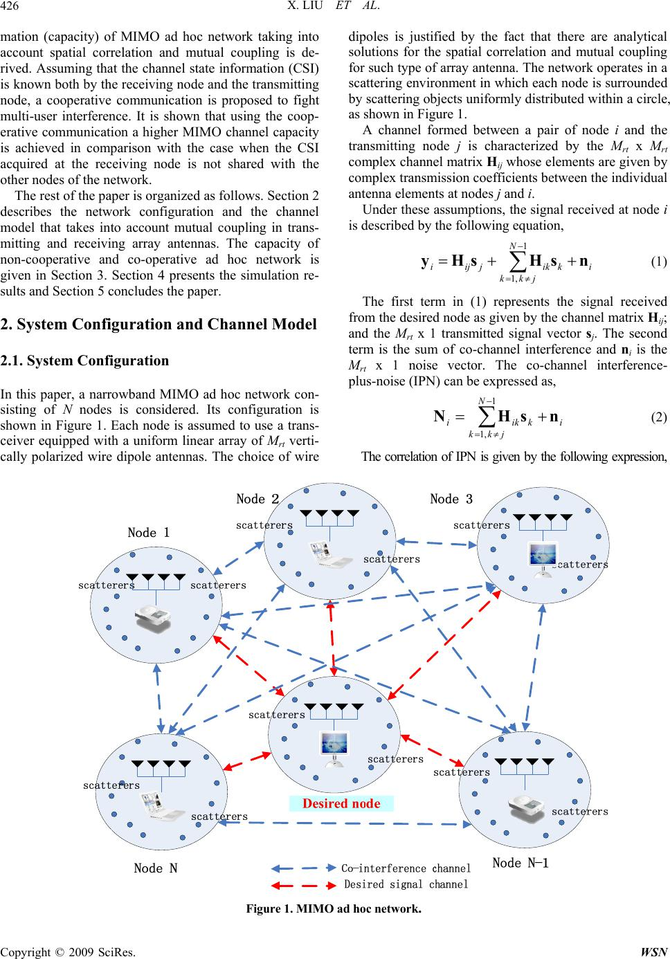 Investigations Into Capacity Of Mimo Ad Hoc Network Including Wiring Diagram X Liu Et Al