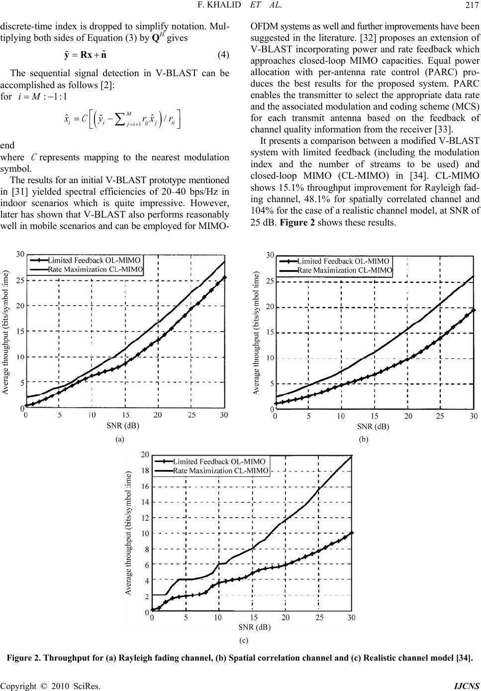 Advances In Mimo Techniques For Mobile Communicationsa Survey Wiring Diagram F Khalid Et Al