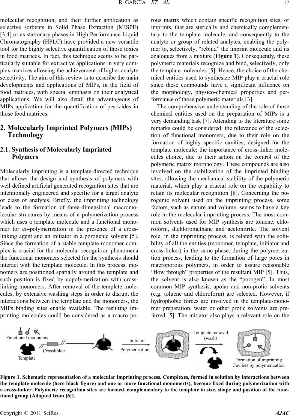 Application of Molecularly Imprinted Polymers for the Analysis of ...