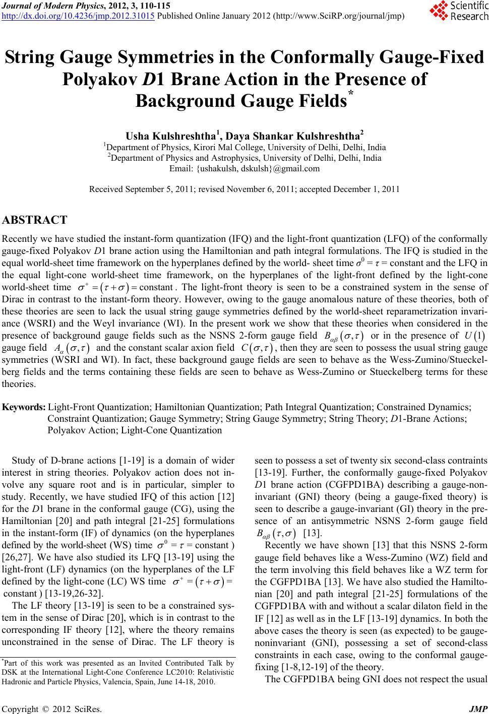 Polyakov gauge fields and strings djvu to pdf