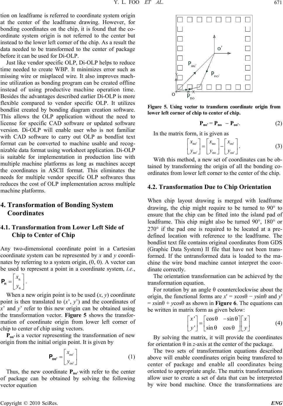 Wire Bonding Using Offline Programming Method Olp Wiring Diagram Y L Foo Et Al