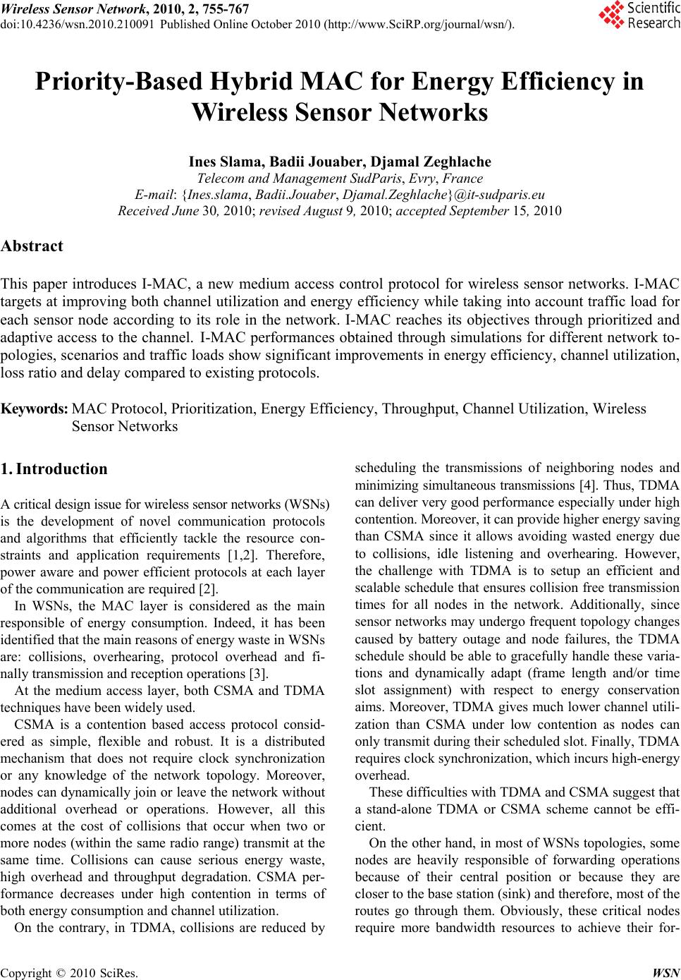 thesis account for wsn