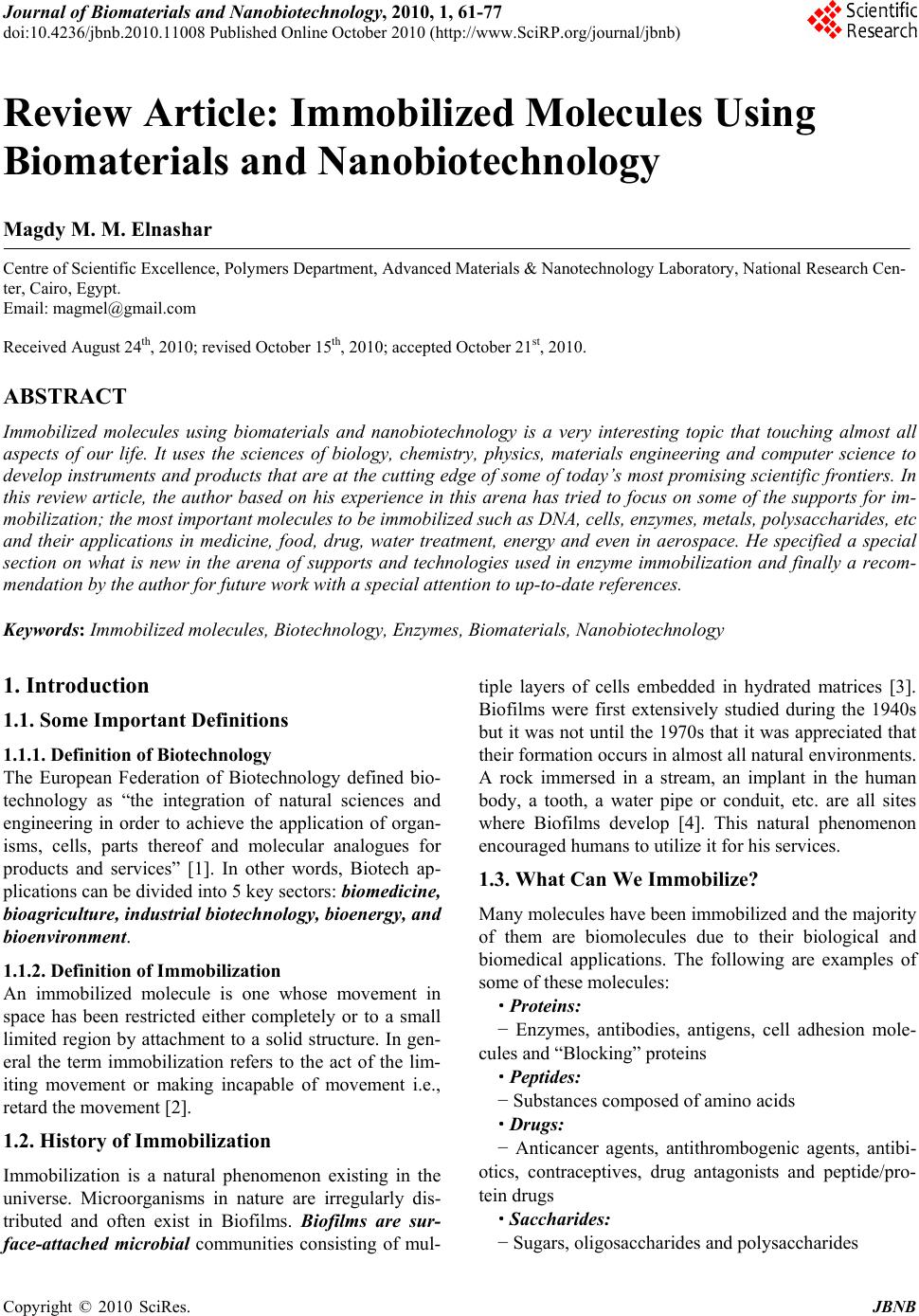 Biomaterial engineering research paper