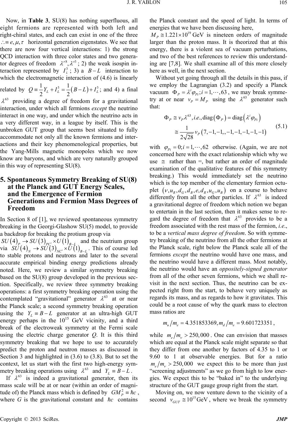 Grand Unified SU(8) Gauge Theory Based on Baryons which ...